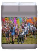 Colors Go Up Duvet Cover