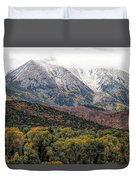 Colors Of Autumn On Mcclure Pass Duvet Cover