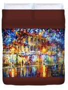 Colors Of Emotions - Palette Knife Oil Painting On Canvas By Leonid Afremov Duvet Cover
