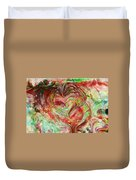 Colors Of Love Duvet Cover