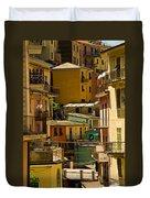 Colors Of Manarola Italy Duvet Cover