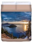 Colors Of The Spring Morning At Discovery Point Duvet Cover