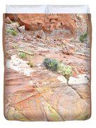 Colors Of Wash 3 In Valley Of Fire Duvet Cover