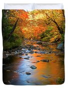 Colors On A Stream Duvet Cover