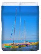 Colors On The Shore Duvet Cover