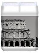 Colosseum Or Coliseum Black And White Duvet Cover