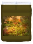 Colour Explosion In The Japanese Gardens Duvet Cover