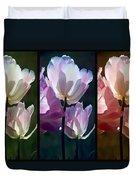 Coloured Tulips Duvet Cover