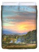 Colourful Clouds At Sunset Yarra Glen 09-05-2015 Duvet Cover