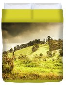 Colourful Fields And Farmyards Duvet Cover