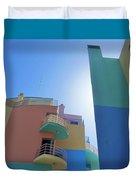 Colourful Marina Buildings Albufiera Portugal Duvet Cover