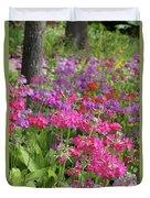Colourful Primula Candelabra At Wisley Gardens Surrey Duvet Cover