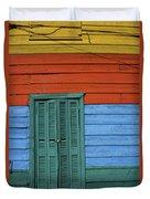 Colourful Shutters La Boca Buenos Aires Duvet Cover