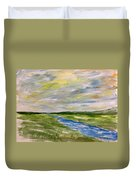 Colourful Sky Over The Creek Duvet Cover