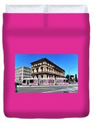 Colourful Tram At Old Treasury Building Duvet Cover