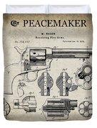 Colt .45 Peacemaker Revolver Patent  1875 Duvet Cover