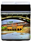 Columbia Canal At Gervais Street Bridge Duvet Cover by Lisa Wooten