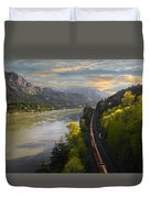 Columbia Gorge Train Duvet Cover