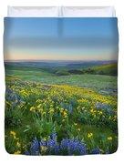 Columbia Hills Wildflower Dawn Duvet Cover