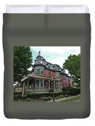 Columbia House Watercolor Duvet Cover