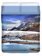 Columbia Ice Field And Athabaska Glacier Duvet Cover