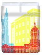 Columbia Mo Skyline Pop Duvet Cover
