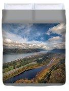 Columbia River Gorge In Autumn Duvet Cover