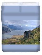 Columbia River Gorge Oregon State Panorama. Duvet Cover