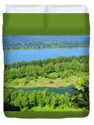 Columbia River Gorge View Duvet Cover