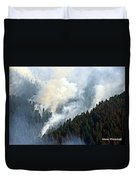 Columbia River Gorge Wildfire 2017 Duvet Cover