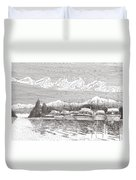 Columbia River Raft Up Duvet Cover