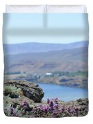 Columbia River Scenic Blooms #1 Duvet Cover