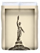 Columbia Statue Atop Memorial Hall Duvet Cover