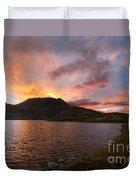 Columbine Lake Sunset - Weminuche Wilderness - Colorado Duvet Cover