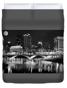 Columbus Black Night Duvet Cover