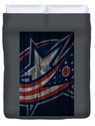Columbus Blue Jackets Wood Fence Duvet Cover