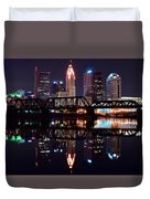Columbus Ohio Reflecting On The River Duvet Cover