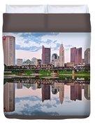 Columbus Ohio Reflects Duvet Cover
