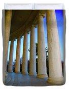 Columns At Jefferson Duvet Cover