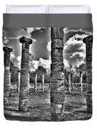 Columns Of Support Duvet Cover
