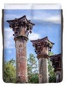 Columns Of Windsor Ruins Duvet Cover