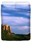 Colurt House Butte And Bell Rock Duvet Cover