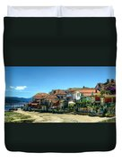 Combarro Village Waterfront Panorama Duvet Cover