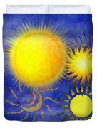 Combating Suns Duvet Cover
