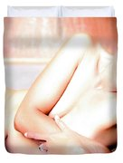 Come Be Quiet Here My Love  Duvet Cover
