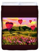 Come Fly With Me Duvet Cover by Kurt Van Wagner