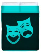 Comedy N Tragedy Aquamarine Duvet Cover