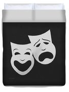Comedy N Tragedy Black White Duvet Cover