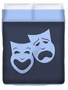 Comedy N Tragedy Cyan Duvet Cover