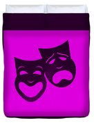 Comedy N Tragedy Purple Duvet Cover